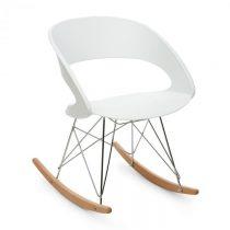 OneConcept Travolta hojdacia stolička, retro, PP-konštrukcia sedacej časti, brezové drevo, biela far...
