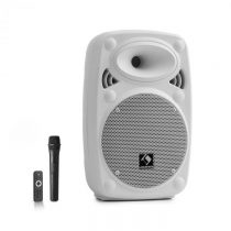 """Auna Streetstar 8, mobilný PA systém, 8"""" (20 cm), UHF mikrofón, 200 W max., biely"""