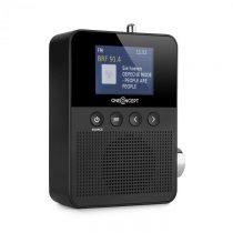 OneConcept Plug+Play DAB, rádio do zásuvky, DAB+/FM, BT, TFT displej, čierne