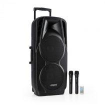 Vonyx SPX-PA9210 sound systém 2x10'' USB, SD/MMC bluetooth nabíjacia batéria 4 - 6...