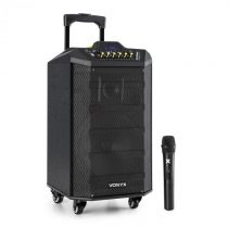 Vonyx VPS10, audio PA systém, 250W, USB/SD port, bluetooth, 12V/4,5Ah, batéria
