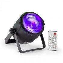 Beamz PLS30 Spot, bodový LED reflektor, 10W, 4v1, RGBW, 6 DMX kanálov, batéria, LED displej, diaľkov...