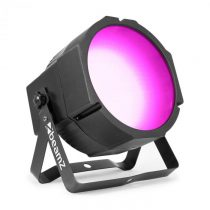 Beamz BS271F Flat Par, LED reflektor, 271 RGB SMD LED svetiel, DMX alebo samostatný režim, LED displ...