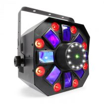 Beamz MultiAcis IV LED derby, laser, wash a strobe DMX-/stand-alone režim