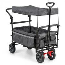 Waldbeck Easy Rider, ťahací vozík so strieškou, do 70 kg, teleskopická tyč, sklopný, sivý