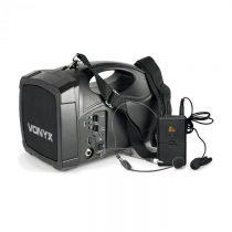 Vonyx ST012, prenosný PA rádiový systém, body-check-mikro SMT USB BT MP3 12 Vdc akumulátor