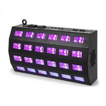 Beamz BUV463, LED UV stroboskop, 24 x 3 W, DMX/samostatná prevádzka, 7 DMX kanálov, 85 W, čierny