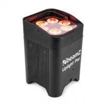 Beamz BBP96 Uplight PAR, 6 x 12 W, 6v1 LED diód, RGBAW-UV, 72 W 12,6 V/10,4 Ah, akumulátor