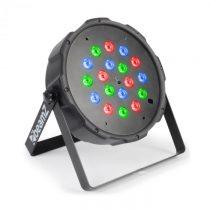 Beamz FlatPAR 118B, 18 x 1W, PAR-reflektor, RGB, LED, DMX, IR, vrátane diaľkového ovládača