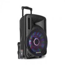 """Fenton FT12LED, aktívny reproduktor, 12"""", 700 W, BT/USB/SD/MP3/AUX, LED, akumulátor, vozíko..."""