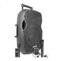 "Vonyx AP1200PA, mobilný PA systém, 12"" woofer, 600 W, BT/USB/SD/AUX, 3 x mikrofón, akumulát..."