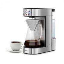 Klarstein Perfect Brew, kávovar, 1800 W, časovač, sklenená kanvica, ušľachtilá oceľ, strieborný