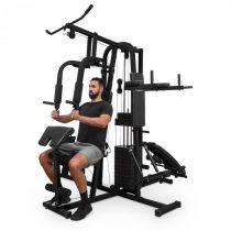 Klarfit Ultimate Gym 9000, fitness stanica, 7 staníc, do 150 kg, QR oceľ, čierna