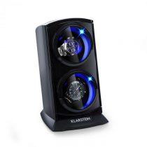 Klarstein St. Gallen Premium, naťahovač na hodinky, 2 hodiniek, 4 rýchlosti, čierny