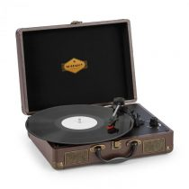 Auna Peggy Sue, gramofón, stereo reproduktory, USB pripojenie, hnedý