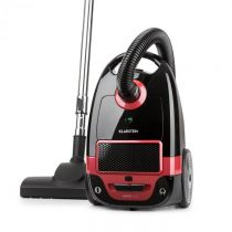Klarstein Mister Eco, vysávač, 450 W, HEPA13, trieda energetickej účinnosti A++, čierno/červený