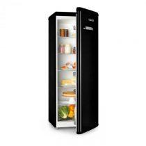Klarstein Irene XL, chladnička, 242 l, retro dizajn, 4 poličky, A+, čierna