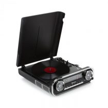 Auna Challenger, LP gramofón, bluetooth, VHF-rádio, USB, čierny