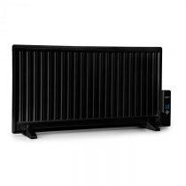 OneConcept Wallander, olejový radiátor, 1000 W, termostat, olejové vyhrievanie, plochý dizajn, čiern...