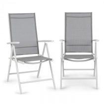 Blumfeldt Almeria, skladacia stolička, sada 2 kusov, 59,5 x 107 x 68 cm, ComfortMesh, hliník, biela