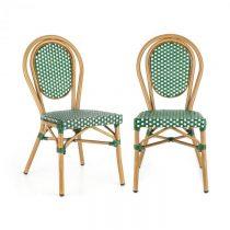 Blumfeldt Montpellier GR, bistro stolička, možnosť ukladať stoličky na seba, hliníkový rám, polyrata...