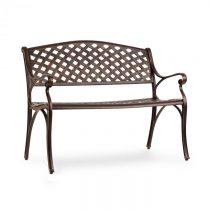 Blumfeldt Pozzilli AN, záhradná lavička, liaty hliník,odolná voči počasiu, starožitná meď