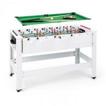 KLARFIT Spin 2 v 1, hrací stôl, biliard, kalčeto, 180° otočný, hracie príslušenstvo, biely