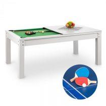OneConcept Liverpool, 3-v-1, hrací stôl, 7' biliardový stôl, stôl na stolný tenis, jedálenský stôl, ...