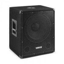"""Vonyx SMWBA15, aktívny PA subwoofer, 15"""" (38 cm), 600 W max., BT, MP3, prírubové pripojenie"""