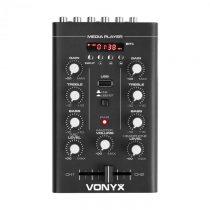 Vonyx STM500BT, 2-kanálový DJ mixér, bluetooth, MP3 prehrávač, USB port, čierny