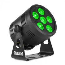 Beamz Professional BBP66, Uplight PAR, LED reflektor, 6 W, 4 v 1 RGBW LED diódy, čierny