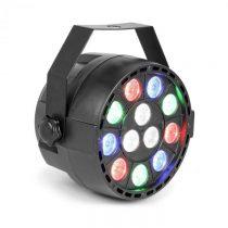 Beamz Party, UV Par reflektor, 15 W, 12 x UV LED dióda, DMX režim a samostatná prevádzka, LED disple...