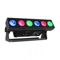 Beamz BBB612, battery bar, svetelná rampa s batériou, 6 x 12 W 6 v 1 RGBAW-UV LED dióda, 55 W, čiern...