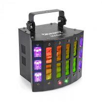 Beamz Magic 2, derby, R/G laser, stroboskop/UV svetelný efekt, 9 DMX kanálov, čierna