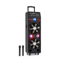 Auna DisGo Box 2100, PA systém, 100 W RMS, BT, SD slot, LED diódy, USB, akumulátor, čierny