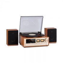 Auna Oxford, retro stereo systém, DAB+/FM rádio, BT funkcia, vinyl, CD, AUX, champagne