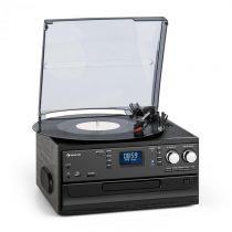 Auna Oakland DAB, retro stereo systém, DAB+/FM rádio, BT funkcia, vinyl, CD, kazety