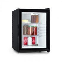 Klarstein Brooklyn 42, chladnička, energetická trieda A, sklenené dvere, biely interiér, čierna
