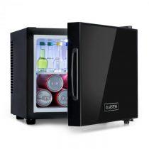 Klarstein Frosty, mini chladnička, energetická trieda A, dvere so zrkadlovým sklom, 10 litrov, čiern...
