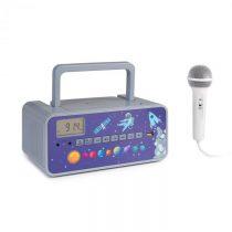 Auna Kidsbox Space CD Boombox, CD prehrávač, bluetooth, FM, USB, LED displej, sivý