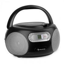 Auna Haddaway, CD boombox, CD prehrávač, bluetooth, FM, AUX vstup, LED displej, čierny