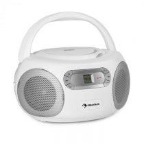 Auna Haddaway, CD boombox, CD prehrávač, bluetooth, FM, AUX vstup, LED displej, biely