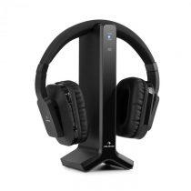 Auna Silencium, bezdrôtové slúchadlá, 20 m, 2,4 GHz, TV/HiFi/CD/MP3, akumulátor, čierne