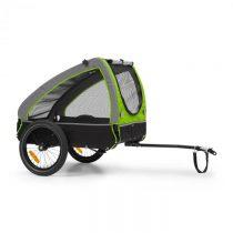 KLARFIT Husky, príves na bicykel pre psov, cca 250L, 600D, Oxfortdské plátno, zelený