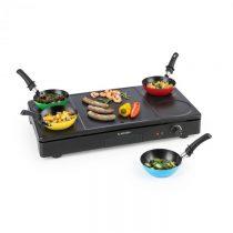 Klarstein Partylette, 3 v 1 stolový gril, wok, palacinkovač, 1000 W, 4 osoby, nelepivý povrch