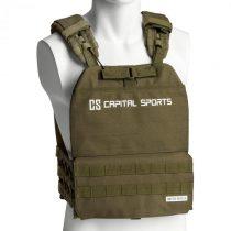 Capital Sports Battlevest 2.0, záťažová vesta, 2 x 2 závažia 2,6 & 4,0 kg, olivovozelená