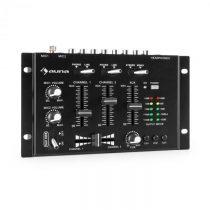 Auna TMX-2211, MKII, DJ-Mixer, 3/2 kanálový, crossfader, talkover, montáž na rack, čierny
