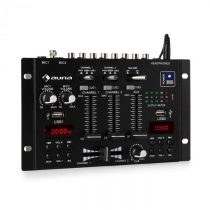 Auna DJ-22BT, MKII, mixér, 3/2 kanálový-DJ-mixážny pult, BT, 2xUSB, montáž na rack, čierny