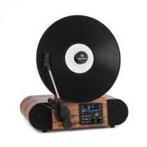 Auna Verticalo SE DAB, retro gramofón, DAB+, FM tuner, USB, BT, AUX, drevo