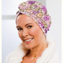 """Blancheporte Uterákový turban z mikrovlákna, potlač """"Kvety"""" kvety"""